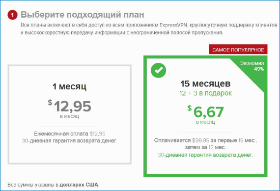 Выбрать подписку для VPN